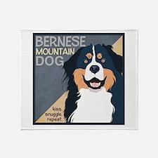 Bernese-Kiss.Snuggle.Repeat. Throw Blanket