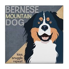 Bernese-Kiss.Snuggle.Repeat. Tile Coaster