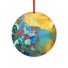 Redon Ophelia Ornament (Round)