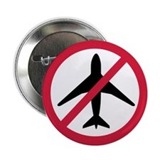 "No-fly zone airplane 2.25"" Button"