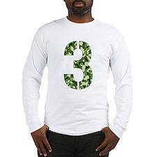 Number 3, Camo Long Sleeve T-Shirt