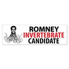 Romney Invertebrate Candidate Bumper Sticker