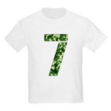 Number 7, Camo T-Shirt