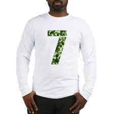 Number 7, Camo Long Sleeve T-Shirt