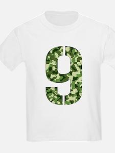 Number 9, Camo T-Shirt