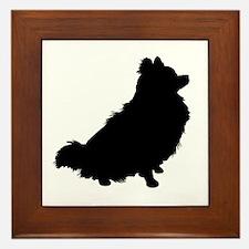 Pomeranian Silhouette Framed Tile