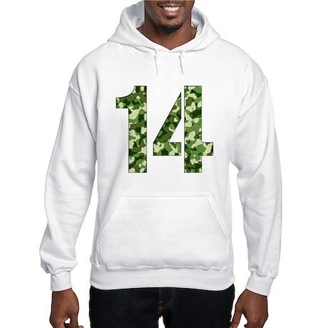 Number 14, Camo Hooded Sweatshirt