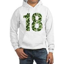Number 18, Camo Hoodie