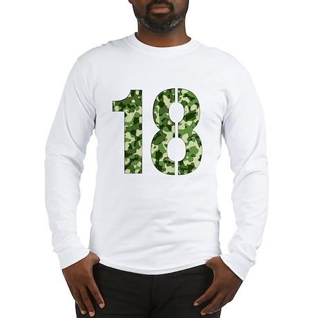 Number 18, Camo Long Sleeve T-Shirt