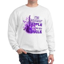 I'm Rockin' Purple for my Unc Sweatshirt