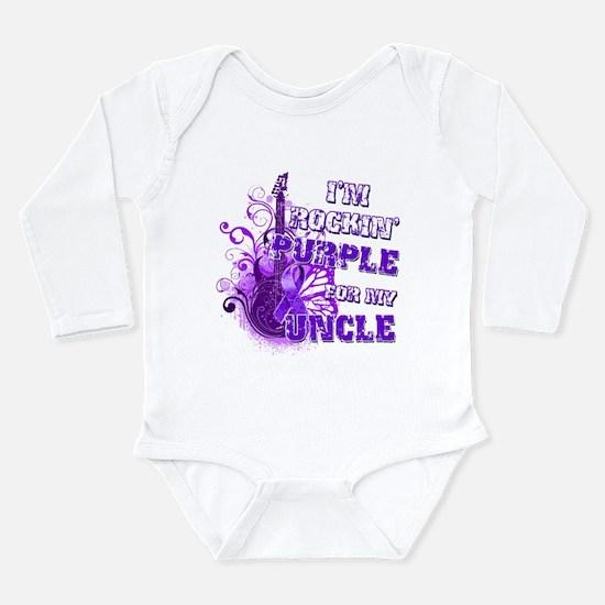 I'm Rockin' Purple for my Unc Long Sleeve Infant B