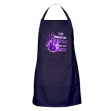 I'm Rockin' Purple for my Son Apron (dark)