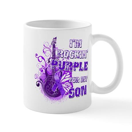 I'm Rockin' Purple for my Son Mug