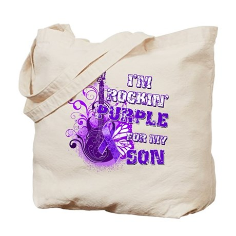 I'm Rockin' Purple for my Son Tote Bag
