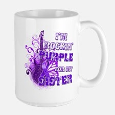 I'm Rockin' Purple for my Sis Mug