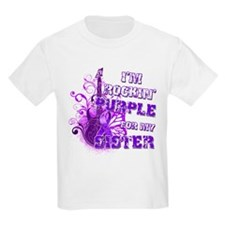 I'm Rockin' Purple for my Sis T-Shirt