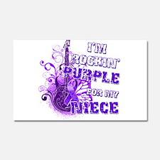 I'm Rockin' Purple for my Nie Car Magnet 20 x 12