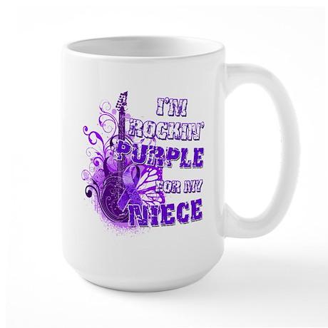 I'm Rockin' Purple for my Nie Large Mug