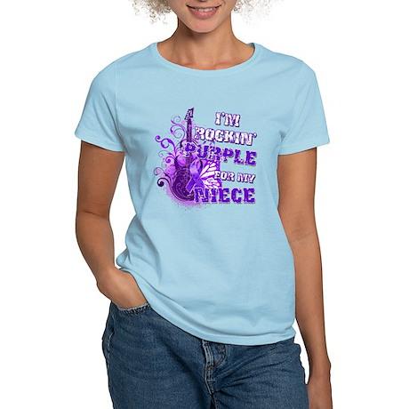 I'm Rockin' Purple for my Nie Women's Light T-Shir