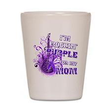 I'm Rockin' Purple for my Mom Shot Glass