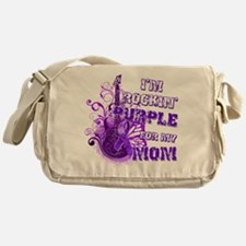 I'm Rockin' Purple for my Mom Messenger Bag