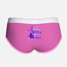 I'm Rockin' Purple for my Mom Women's Boy Brief