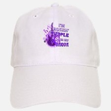 I'm Rockin' Purple for my Mom Baseball Baseball Cap