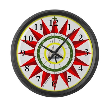 Southern Star Compass Rose Large Wall Clock