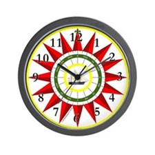 Luck of The Southern Star Compass Rose Wall Clock