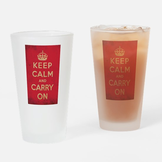 Keep Calm And Carry On Pint Glass