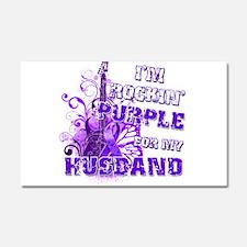I'm Rockin' Purple for my Hus Car Magnet 20 x 12
