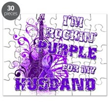 I'm Rockin' Purple for my Hus Puzzle