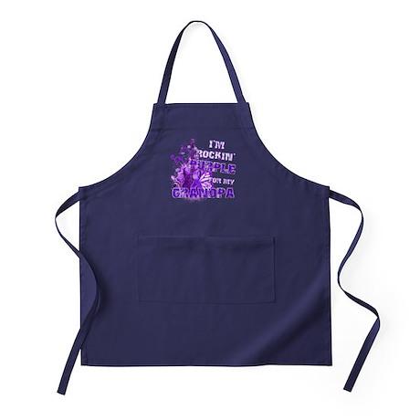 I'm Rockin' Purple for my Gra Apron (dark)