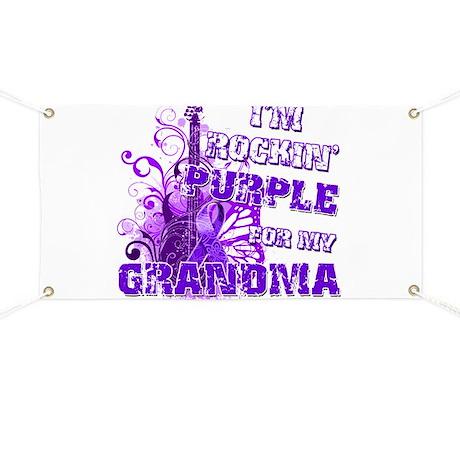 I'm Rockin' Purple for my Gra Banner