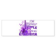 I'm Rockin' Purple for my Gra Bumper Sticker