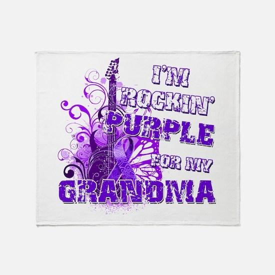 I'm Rockin' Purple for my Gra Throw Blanket