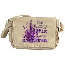 I'm Rockin' Purple for my Gra Messenger Bag