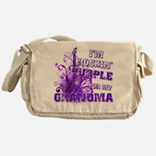 I'm Rockin' Purple for my Gra Messenger Bag