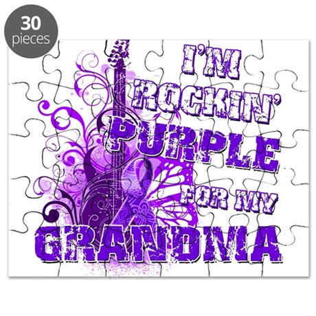 I'm Rockin' Purple for my Gra Puzzle