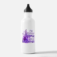 I'm Rockin' Purple for my Dau Water Bottle