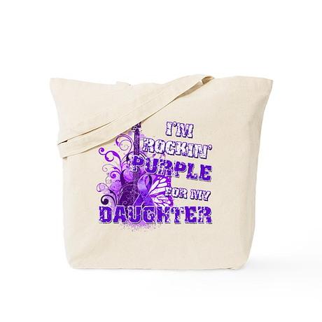 I'm Rockin' Purple for my Dau Tote Bag