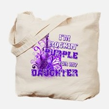 I'm Rockin' Purple for my Dau Tote Bag