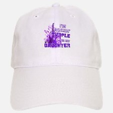 I'm Rockin' Purple for my Dau Baseball Baseball Cap