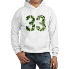 Number 33, Camo Hoodie