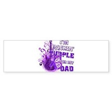 I'm Rockin' Purple for my Dad Bumper Sticker