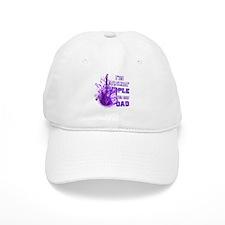 I'm Rockin' Purple for my Dad Baseball Cap