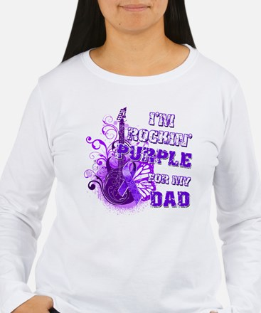 I'm Rockin' Purple for my Dad T-Shirt