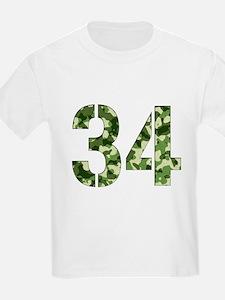 Number 34, Camo T-Shirt