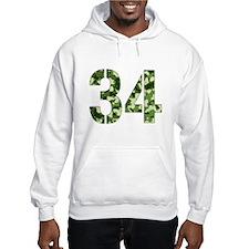 Number 34, Camo Hoodie