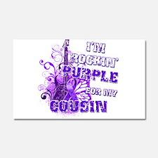 I'm Rockin' Purple for my Cou Car Magnet 20 x 12